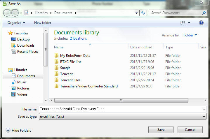 recover android file