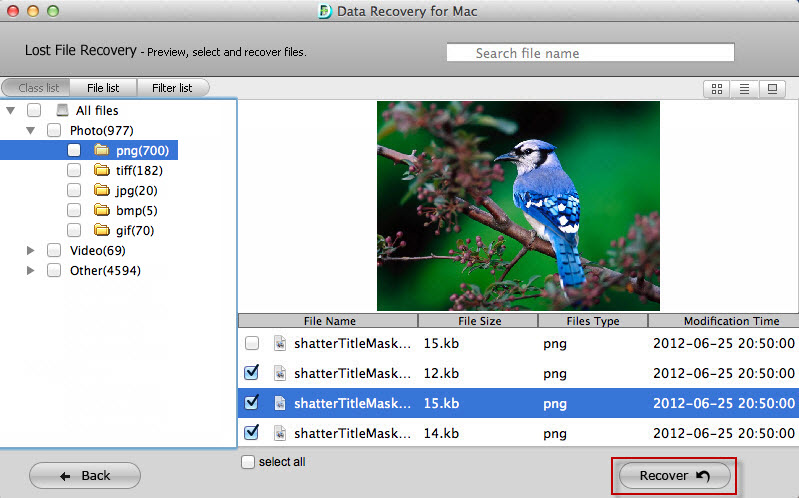 retrieve data mac