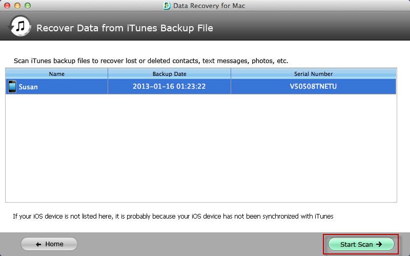 restore iphone data on mac