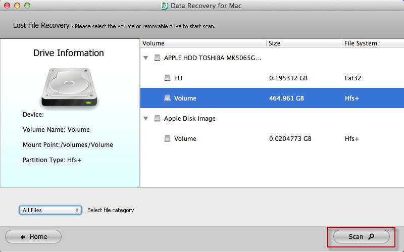 restore data mac