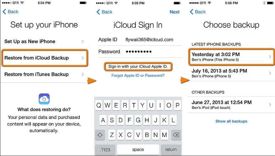 backup iphone su icloud
