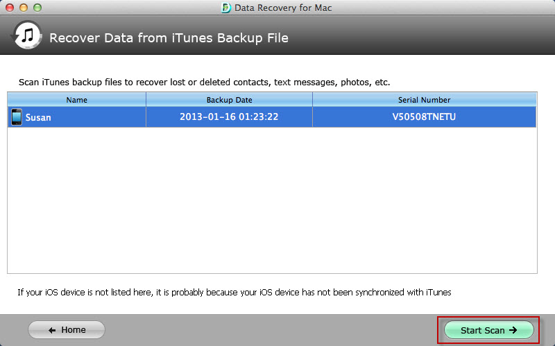 restore iphone data on mac