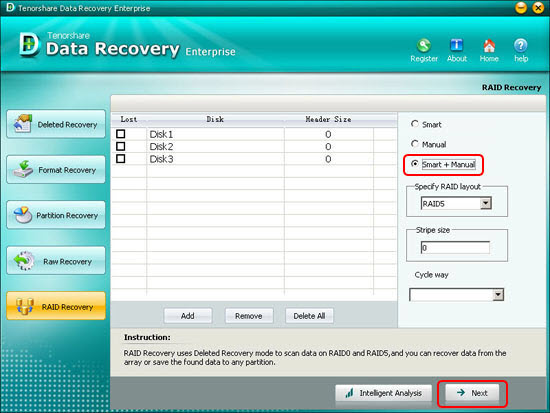 recover raid data