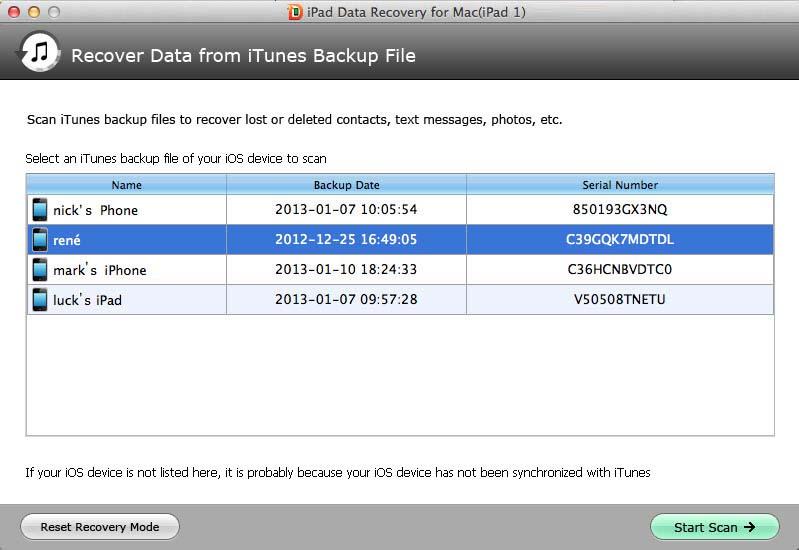 ipad 1 data recovery