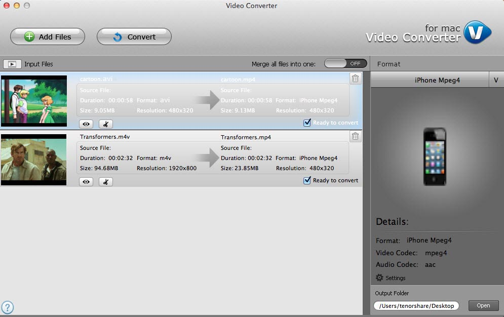 how to convert videos for mac os